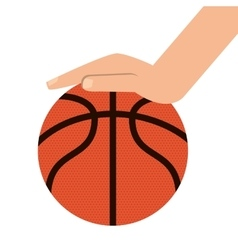 Basketball ball and hand icon vector