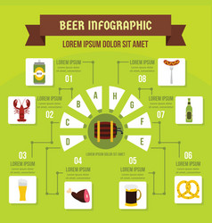 Beer infographic concept flat style vector