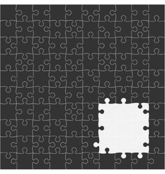 Black Puzzles Pieces Square GigSaw - 100 vector