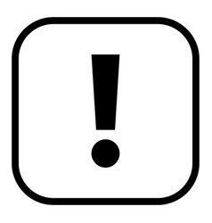 black square exclamation mark icon warning sign vector image
