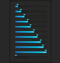 Blue progress bar vector