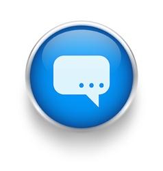 Blue talk icon vector image