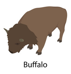 buffalo icon isometric style vector image