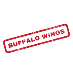 Buffalo Wings Text Rubber Stamp vector