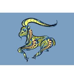 capricorn zodiac sign vector image