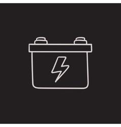 Car battery sketch icon vector image