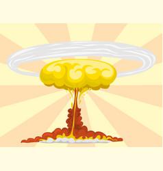 Cartoon explosion boom effect animation game vector