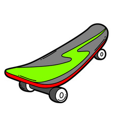 Cartoon skateboard vector