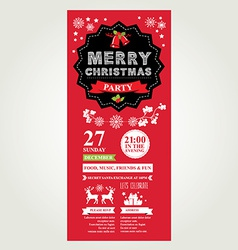 christmas menu invite vector image