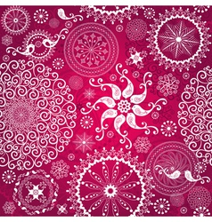 Christmas red repeating pattern vector image vector image