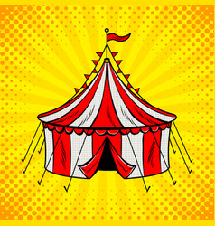 Circus tent cannon pop art vector