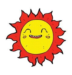 comic cartoon happy sun vector image