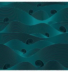 Dark abstract ocean vector