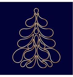 Decorative stylized Christmas tree vector