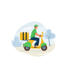delivery service fast safe vector image