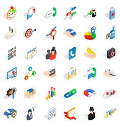 Development icons set isometric style vector