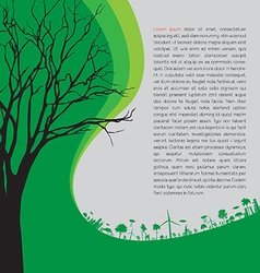 ecology concept - save earth vector image