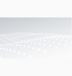 Elegant white and gray particle wave background vector