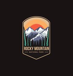 Emblem patch logo rocky mountain national park vector