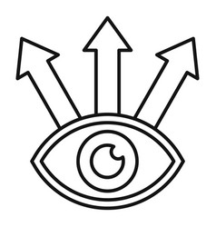 Eye way opportunity icon outline style vector