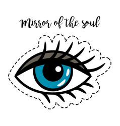 Fashion patch element woman eye vector