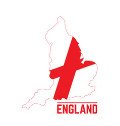 Flag and map of england vector