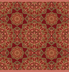 floral pattern with pomegranates vector image