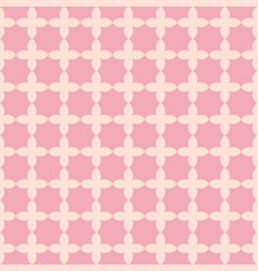 Flower shape line repeating seamless pattern vector