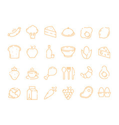 food pictograph kitchen menu fresh products vector image