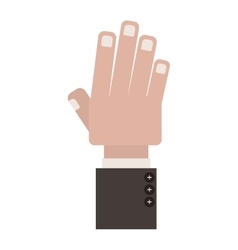 Front view hand with side fingers vector