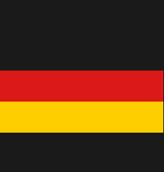 germany flag icon in flat style national sign vector image