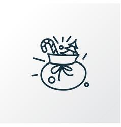 gift sack icon line symbol premium quality vector image