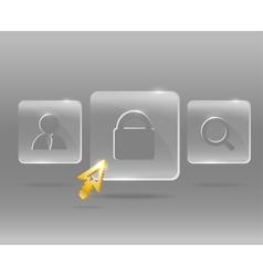 Glassy Icons vector