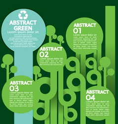 Green Concept Infographics vector image