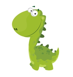 green smiling dino vector image