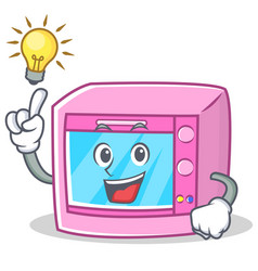 Have an idea oven microwave character cartoon vector