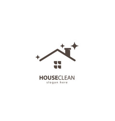 house clean logo vector image
