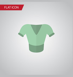 isolated blouse flat icon casual element vector image