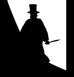 Jack the ripper background silhouette vector
