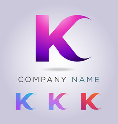 k letter logo template for your business and vector image