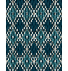 Knit Woolen Seamless Jacquard Ornament Pattern vector image