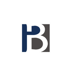 letter b modern icon vector image