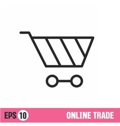 Lines icon basket shop vector image