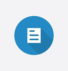 list Flat Blue Simple Icon with long shadow vector image