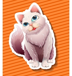 Long haired cat smiling vector image
