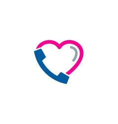 love call logo icon design vector image
