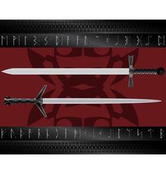 magic swords vector image