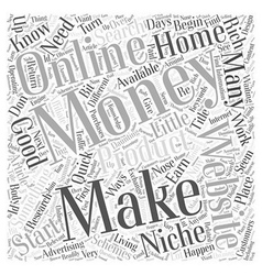 Making Money From Home Where Do You Start Word vector