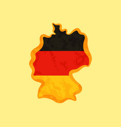 Map of germany colored with german flag and vector