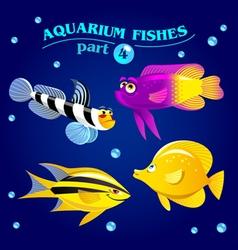 Marine aquarium fishes vector